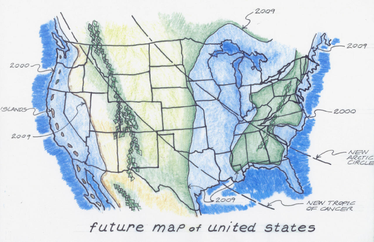 Us Map Navy My Blog - Edgar cayce future us map